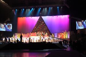 Robe Gets Festive for Living Christmas Tree event