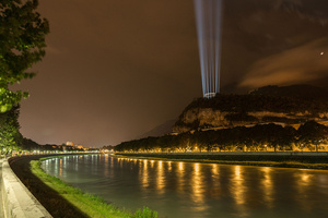 BMFLs Create Columns of Light to Celebrate Cesare Battisti