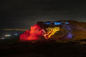 Robe Moves the Mountain at Masada