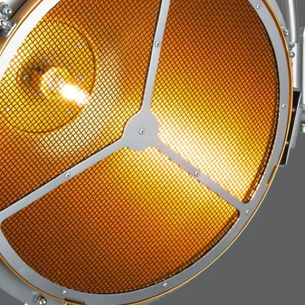 Statische Scheinwerfer mit Halogen-Lichtquelle